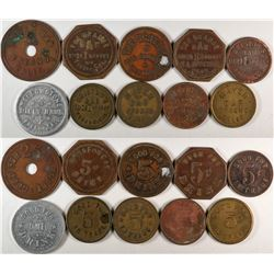 "Fresno California ""Bar"" Tokens  (120290)"