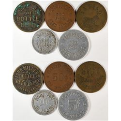"Fresno California ""Beer Hall"" Token Group  (120270)"