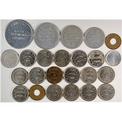 "Fresno California  ""Novelty and Amusement"" Token Group  (120274)"