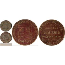 "Fresno California ""Unusual"" Tokens (2)  (120271)"
