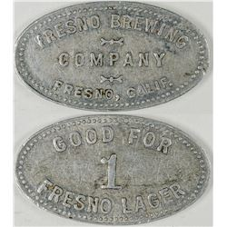 Fresno California  Brewing Company Token  (122618)