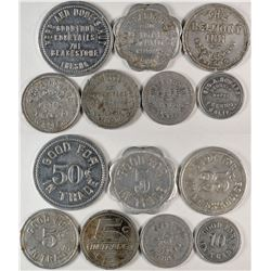 Fresno California  Inn/Hotel Barbershop Cafe Tokens  (120289)
