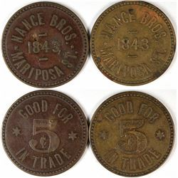 Fresno California Nance Bros. Tokens  (120291)