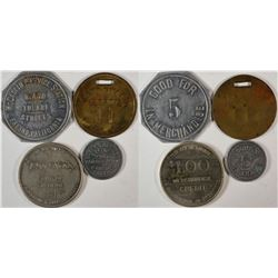 Fresno California  Transportation and Gasoline Tokens  (120288)