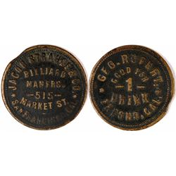 "Fresno, Cal. ""Billiards"" Token  (120294)"