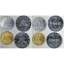 Hub California Lou's Place Tokens (4)  (122638)