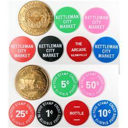 Kettleman City California Market Tokens (5)  (122637)