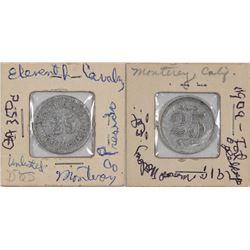 Presidio of Monterey  California Eleventh Cavalry Post Exchange Token  (124393)
