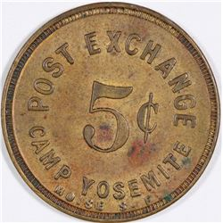 California Post Exchange Camp Yosemite Token  (124405)