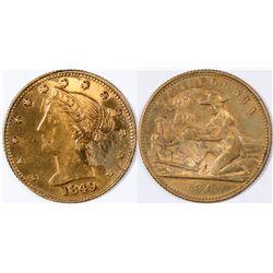 Calif. $5 Gold Rush Gaming Counter  (121979)