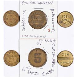 California Post Exchange Tokens  (124406)