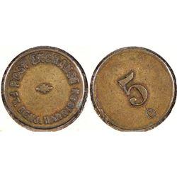 Fort Benjamin Harrison Post Exhange Token  (124361)