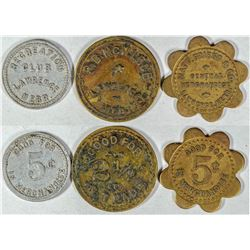Lawrence Tokens (3)  (121639)