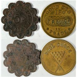 Hoppe Saloon and Pictorial Tokens (2)  (121645)