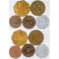 Madison Token Collection (5)  (121609)