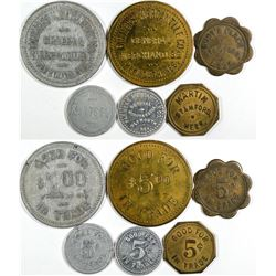 Harlan & Jefferson County Tokens (6)  (121603)