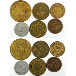 Nebraska Burwell & Maywood Tokens (6)  (121601)