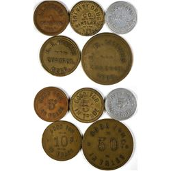 Dawes County Nebraska Token Collection (5)  (120174)