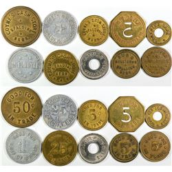 Nebraska Greeley County Token Collection (10)  (121602)