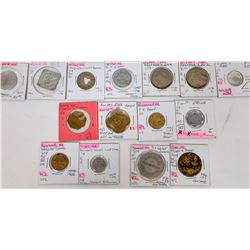 Nebraska Lancaster, Seward, Saline & Jefferson Counties Token Collection  (122684)