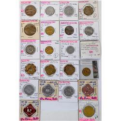 Otoe, Pawnee and Nemaha Nebraska Token Collection  (122682)
