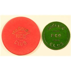 New Jersey McGuire AFB Military Tokens  (124347)