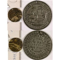 New York New York Coney Island Elephantine Colossus Tokens - 2  (126186)