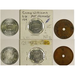 Wisconsin Military Tokens (3)  (124337)