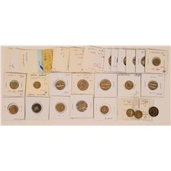 Collection of Victoria counters/tokens.  (121971)
