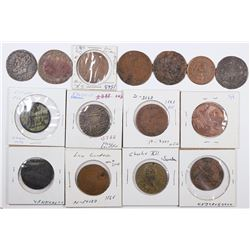 Foreign Token Group #13, Lot of 15  (121870)