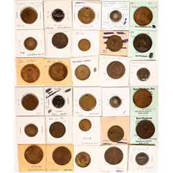 Foreign Token Group #16, Lot of 15  (121873)
