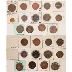 Foreign Token Group #17, Lot of 14  (121874)