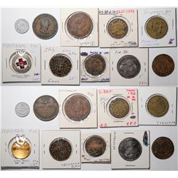 Foreign Token Group #18, Lot of 16  (121875)