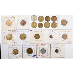 Foreign Token Group #20, Lot of 20  (121877)