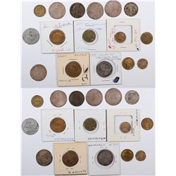Foreign Token Group #22, Lot of 15  (121879)