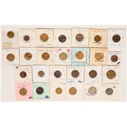 Foreign Token Group #25, Lot of 26  (121882)