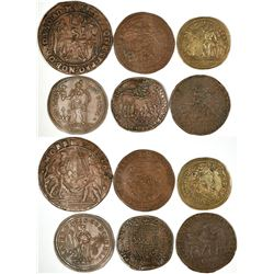 Foreign Token Group #4, Lot of 6  (121862)
