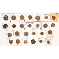 Foreign Token Group #9, Lot of 25  (121867)