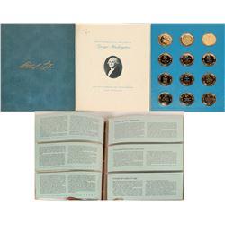 Franklin Mint 24kt Gold on Sterling George Washington Proof Collection  (122997)