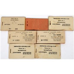 Military Chits (tokens)  WWII  (122136)