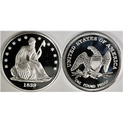 One Pound Proof Silver Round  (124038)