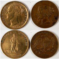 P.T. Barnum Promoted Jenny Lind/Tom Thumb Counters  (122978)