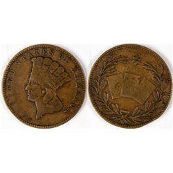 Rare $3 Princess Head Counter  (122969)