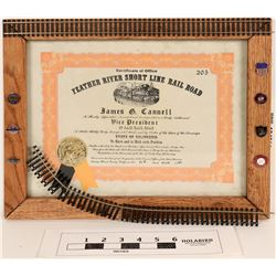 Feather River Short Line Stock in Presentation Frame  (124614)