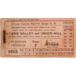 Nevada County Narrow Gauge Railroad Tokens  (108701)