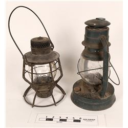 Boston & Maine Railroad Lantern & One Other  (125238)