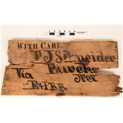 Eureka & Palisade RR Shipping Crate Label  (124615)