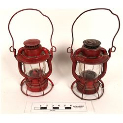 New York Embossed Railroad Lanterns (2)  (125237)