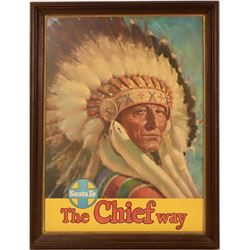 Santa Fe RR - The Chief Way - Framed Original Poster  (125188)