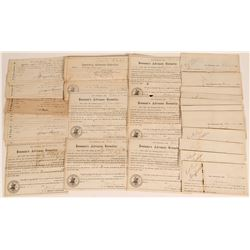 Witch of the Waves Clipper Ship Checks and Receipts  (124619)
